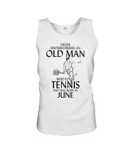 Never Underestimate Old Man Loves Tennis June Unisex Tank thumbnail