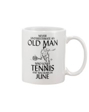 Never Underestimate Old Man Loves Tennis June Mug thumbnail