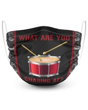 Drumming What Are You Snaring At 2 Layer Face Mask - Single front