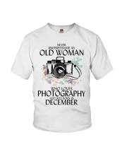 Old Woman Photography December Youth T-Shirt thumbnail