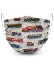 Train 2 Layer Face Mask - Single front