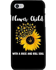 hippie flower child with a rock and roll soul Phone Case tile