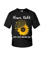 hippie flower child with a rock and roll soul Youth T-Shirt tile