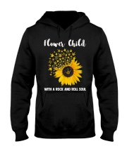 hippie flower child with a rock and roll soul Hooded Sweatshirt tile