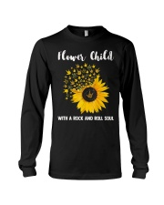 hippie flower child with a rock and roll soul Long Sleeve Tee thumbnail