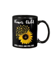 hippie flower child with a rock and roll soul Mug tile