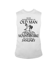 Never Underestimate Old Man Mountain Bike January Sleeveless Tee thumbnail