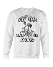 Never Underestimate Old Man Mountain Bike January Crewneck Sweatshirt thumbnail