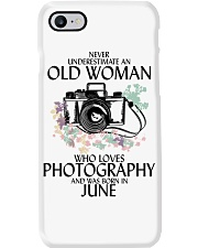 Never Underestimate Old Woman Photography June Phone Case thumbnail
