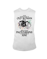 Never Underestimate Old Woman Photography June Sleeveless Tee thumbnail