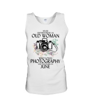 Never Underestimate Old Woman Photography June Unisex Tank thumbnail