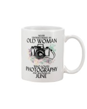 Never Underestimate Old Woman Photography June Mug thumbnail