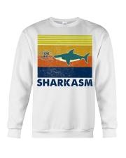 Sharkasm I Love Salad Crewneck Sweatshirt thumbnail