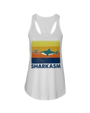 Sharkasm I Love Salad Ladies Flowy Tank thumbnail