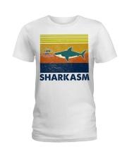 Sharkasm I Love Salad Ladies T-Shirt thumbnail