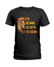 Lion Dad The Man The Myth The Legend Ladies T-Shirt thumbnail