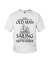 Never Underestimate Old Man SailingSeptember Youth T-Shirt thumbnail