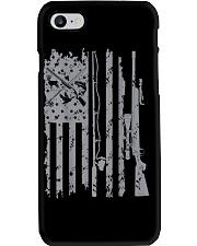 Cool fishing rod hunting rifle american flag  Phone Case thumbnail