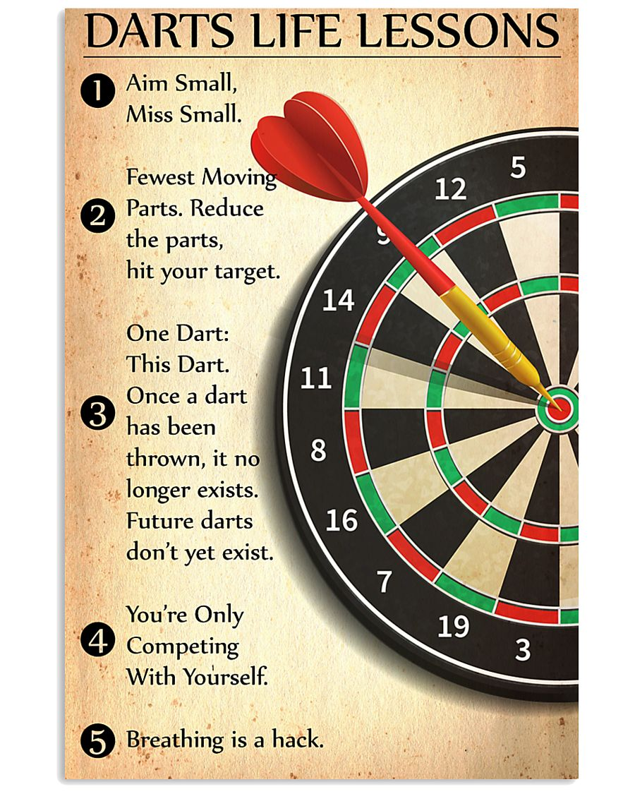 Darts Life Lessons 24x36 Poster