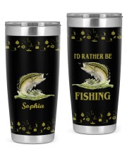 I'd rather be fishing personalized Christmas Gift 20oz Tumbler front