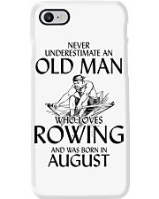 An Old Man Who Loves Rowing And Was Born August Phone Case thumbnail