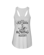 An Old Man Who Loves Rowing And Was Born August Ladies Flowy Tank thumbnail