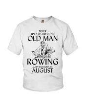 An Old Man Who Loves Rowing And Was Born August Youth T-Shirt thumbnail