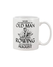 An Old Man Who Loves Rowing And Was Born August Mug thumbnail