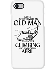 Never Underestimate Old Man Climbing  April Phone Case thumbnail