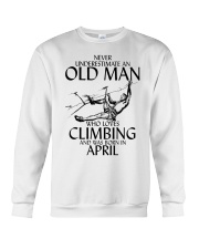 Never Underestimate Old Man Climbing  April Crewneck Sweatshirt thumbnail