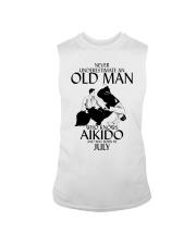 Never Underestimate Old Man Aikido July Sleeveless Tee thumbnail