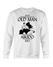 Never Underestimate Old Man Aikido July Crewneck Sweatshirt thumbnail