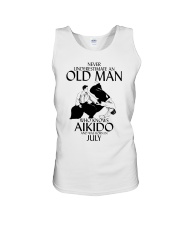 Never Underestimate Old Man Aikido July Unisex Tank thumbnail