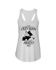 Never Underestimate Old Man Aikido July Ladies Flowy Tank thumbnail