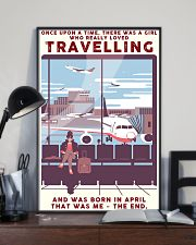 Girl Loves Travelling Born In April 24x36 Poster lifestyle-poster-2