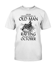 Old Man Loves Rafting October Classic T-Shirt front
