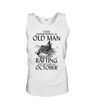 Old Man Loves Rafting October Unisex Tank thumbnail