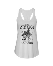 Old Man Loves Rafting October Ladies Flowy Tank thumbnail