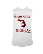 Just An Ohio Girl In Michigan World Sleeveless Tee thumbnail