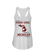 Just An Ohio Girl In Michigan World Ladies Flowy Tank thumbnail