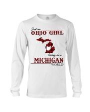 Just An Ohio Girl In Michigan World Long Sleeve Tee thumbnail
