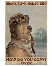 Golden retriever dog aviation 11x17 Poster front