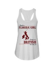 Just An Florida Girl In British Ladies Flowy Tank thumbnail