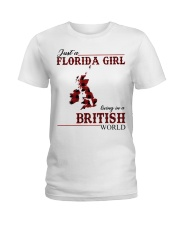 Just An Florida Girl In British Ladies T-Shirt thumbnail