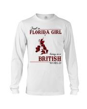 Just An Florida Girl In British Long Sleeve Tee thumbnail