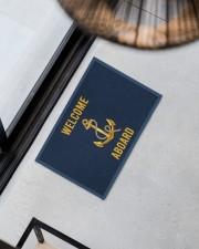 """Sailor Welcome Aboard Doormat 22.5"""" x 15""""  aos-doormat-22-5x15-lifestyle-front-08"""