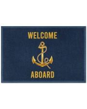 """Sailor Welcome Aboard Doormat 22.5"""" x 15""""  front"""