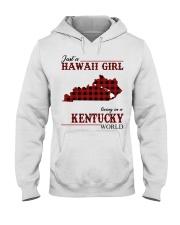 Just A Hawaii Girl Inkentucky Hooded Sweatshirt thumbnail