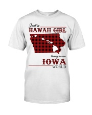 Just A Hawaii Girl In iowa Classic T-Shirt thumbnail