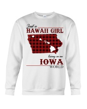 Just A Hawaii Girl In iowa Crewneck Sweatshirt tile